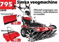 Simka veegmachine-Simka Tuinmachines