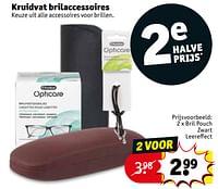 Kruidvat brilaccessoires bril pouch zwart leereffect-Huismerk - Kruidvat