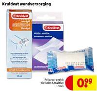 Kruidvat wondverzorging pleisters sensitive-Huismerk - Kruidvat