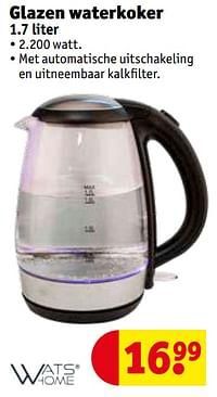 Watshome glazen waterkoker-Watshome