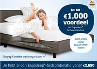 Nu tot €1.000 voordeel op ergosleep bedcombinaties-Ergosleep