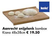 Aanrecht snijplank bamboe kiana-Kela