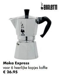 Moka express voor 6 heerlijke kopjes koffie-Bialetti