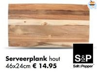Serveerplank hout-Salt & Pepper