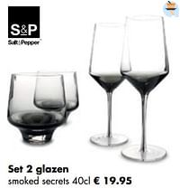 Set 2 glazen smoked secret-Salt & Pepper