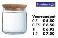 Voorraadpot-Luminarc