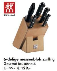 6-delige messenblok-Zwilling
