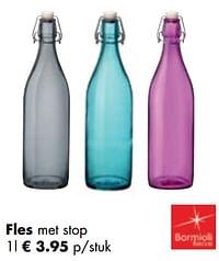 Fles met stop-Bormioli Rocco