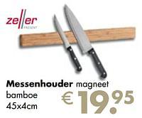 Messenhouder magneet bamboe-Zeller Present