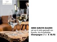Serie sublym glazen champagne-Chef & Sommelier