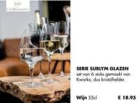 Serie sublym glazen wijn-Chef & Sommelier