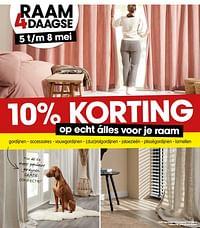 10% korting op echt álles voor je raam-Huismerk - Kwantum