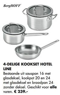 4-delige kookset hotel line-BergHoff