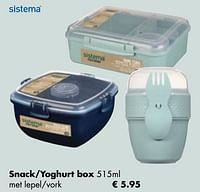 Snack-yoghurt box-Sistema