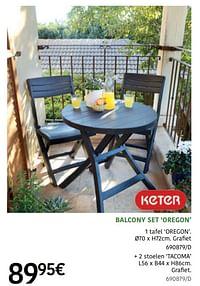 Balcony set oregon-Keter