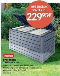 Opbergbox ontario-Keter