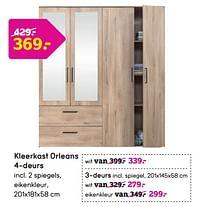 Kleerkast orleans 4-deurs-Huismerk - Leen Bakker