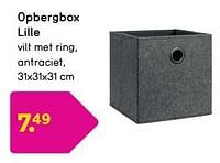 Opbergbox lille-Huismerk - Leen Bakker