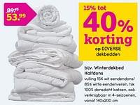 Winterdekbed halfdons-Huismerk - Leen Bakker