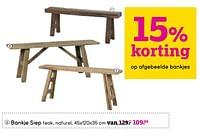 Bankje siep-Huismerk - Leen Bakker