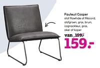 Fauteuil cooper-Huismerk - Leen Bakker