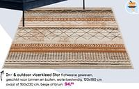 In- + outdoor vloerkleed star-Huismerk - Leen Bakker