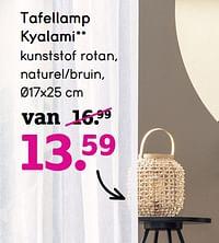 Tafellamp kyalami-Huismerk - Leen Bakker