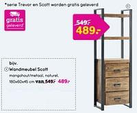 Wandmeubel scott-Huismerk - Leen Bakker