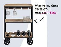 Wijn trolley onno-Huismerk - Leen Bakker