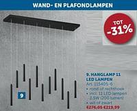 Hanglamp 11 led lampen-Huismerk - Zelfbouwmarkt