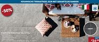 Keramische terrastegel belchateau-Huismerk - Zelfbouwmarkt