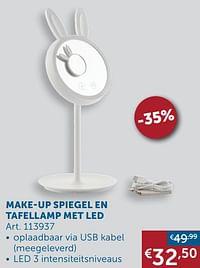 Make-up spiegel en tafellamp met led-Huismerk - Zelfbouwmarkt