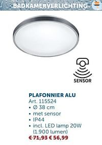 Plafonnier alu-Huismerk - Zelfbouwmarkt
