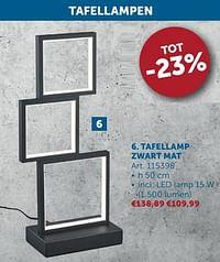 Tafellamp zwart mat-Huismerk - Zelfbouwmarkt