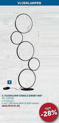 Vloerlamp cirkels zwart mat-Huismerk - Zelfbouwmarkt