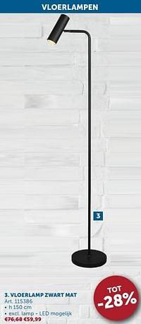 Vloerlamp zwart mat-Huismerk - Zelfbouwmarkt