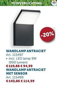 Wandlamp antraciet-Huismerk - Zelfbouwmarkt
