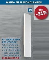 Wandlamp rechthoek-Huismerk - Zelfbouwmarkt