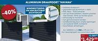 Aluminium draaipoort havana dubbele draaipoort 356x175cm-Huismerk - Zelfbouwmarkt