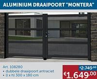 Aluminium draaipoort montera-Huismerk - Zelfbouwmarkt