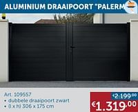 Aluminium draaipoort palermo-Huismerk - Zelfbouwmarkt