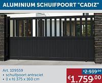 Aluminium schuifpoort cadiz-Huismerk - Zelfbouwmarkt