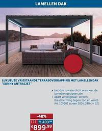 Lamellen dak screen (bescherming tegen zon en wind-Huismerk - Zelfbouwmarkt