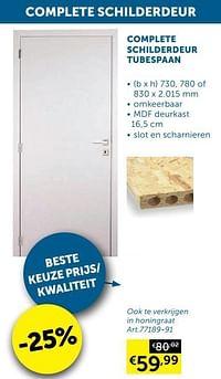 Complete schilderdeur honingraat-Huismerk - Zelfbouwmarkt