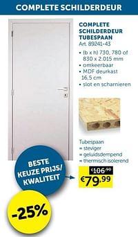 Complete schilderdeur tubespaan-Huismerk - Zelfbouwmarkt