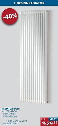 Designradiatoren staal radiator dell-Beauheat