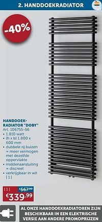 Handdoekradiator doby-Beauheat