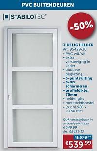 Pvc buitendeuren 3 delig helder glas-Huismerk - Zelfbouwmarkt