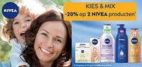 Kies +mix -20% op 2 nivea producten-Nivea