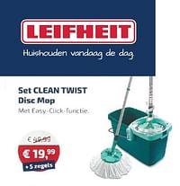 Set clean twist disc mop-Leifheit